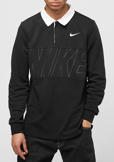 NIKE SB Dry Top Rugby black/white