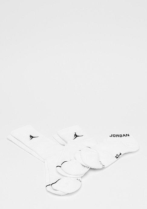 Jordan Jordan Waterfall 3 Pairs white/white/white