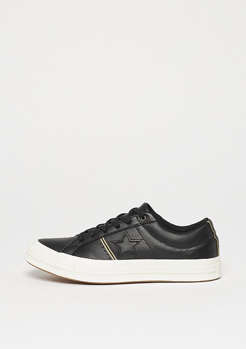 Converse One Star OX black/gold/egret