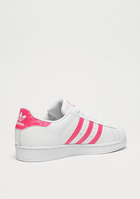 adidas Superstar white/real pink/white