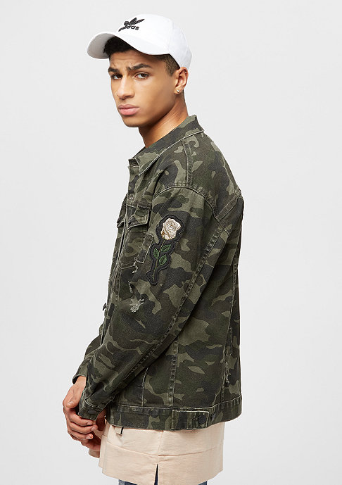 Cayler & Sons ALLDD Trucker 2 Denim Jacket woodland camo