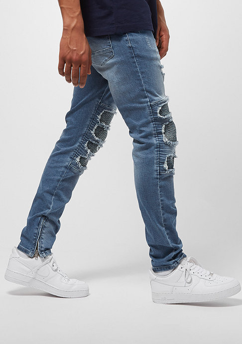 Cayler & Sons ALLDD Inverted Biker Ian Denim mid blue
