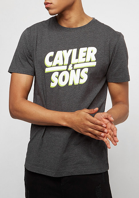 Cayler & Sons WL Mr Kahle Tee charcoal/white