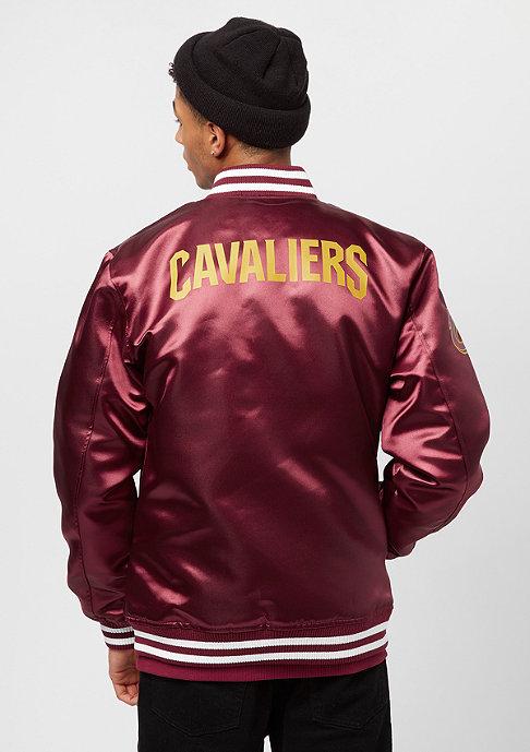 New Era Tip Off Sateen Bomber Cleveland Cavaliers cardinal