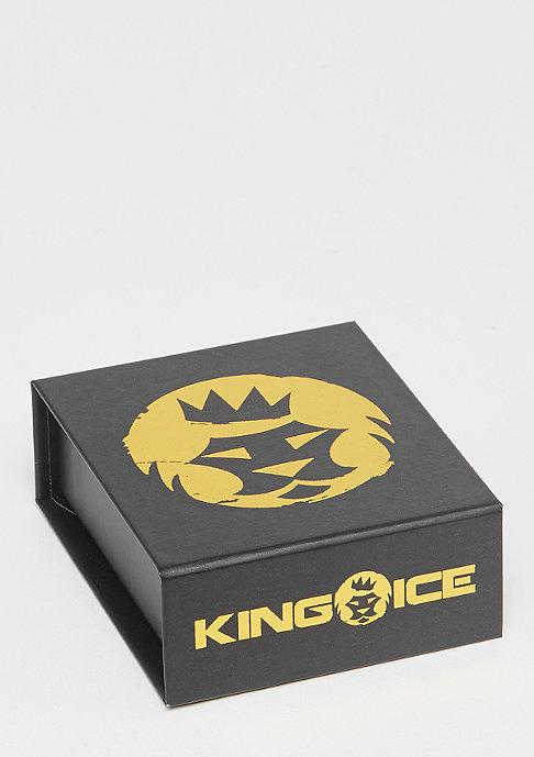 King Ice Single Row CZ Pharaoh gold