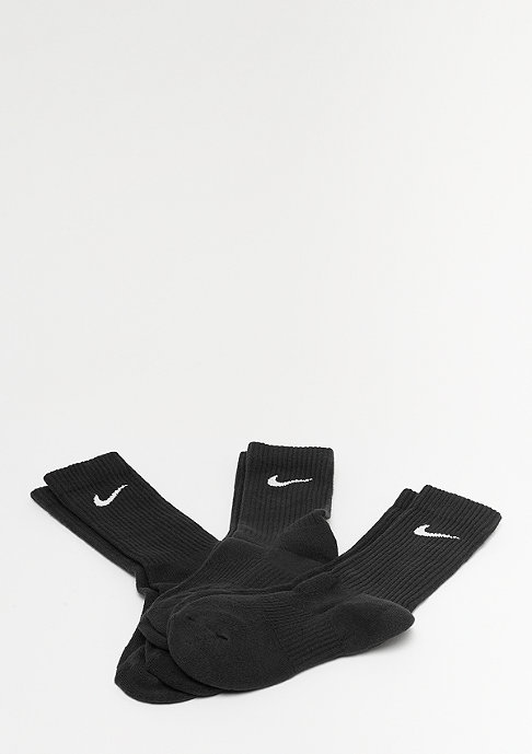 NIKE Performance Cushion Crew Training 3P black/white