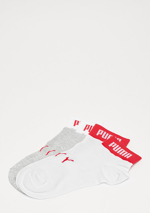 Puma Quarter Logo Welt 2P white/red