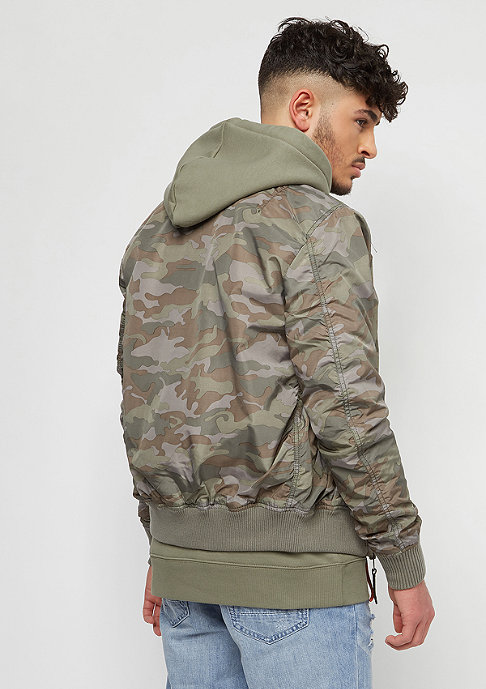 Alpha Industries MA-1 TT woodland camo