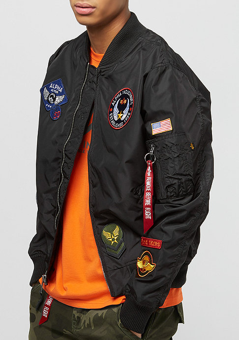 Alpha Industries MA-1 TT Patch II black