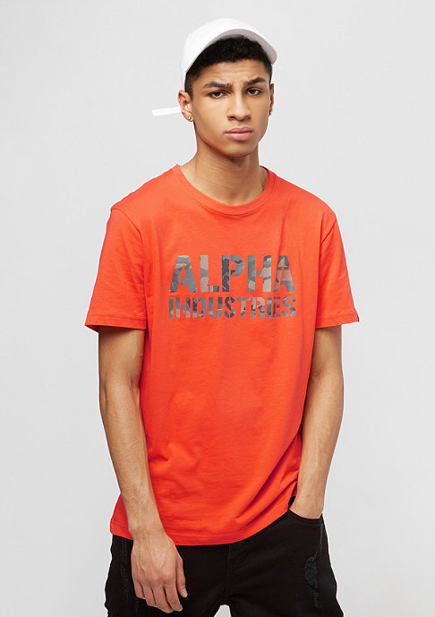 Alpha Industries Camo Print flame orange