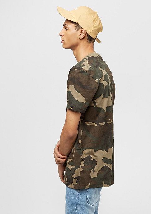 Alpha Industries Blurred woodland camo