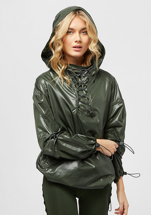 IVY PARK Lacets Wet Look Up dar green
