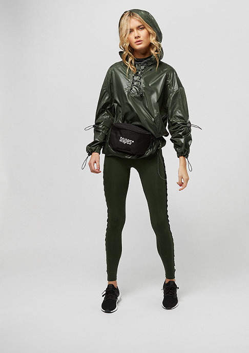 IVY PARK Wet Look Lace Up dark green