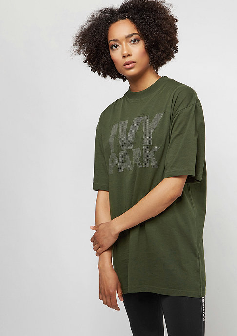 IVY PARK Dots Logo Fitted dark green