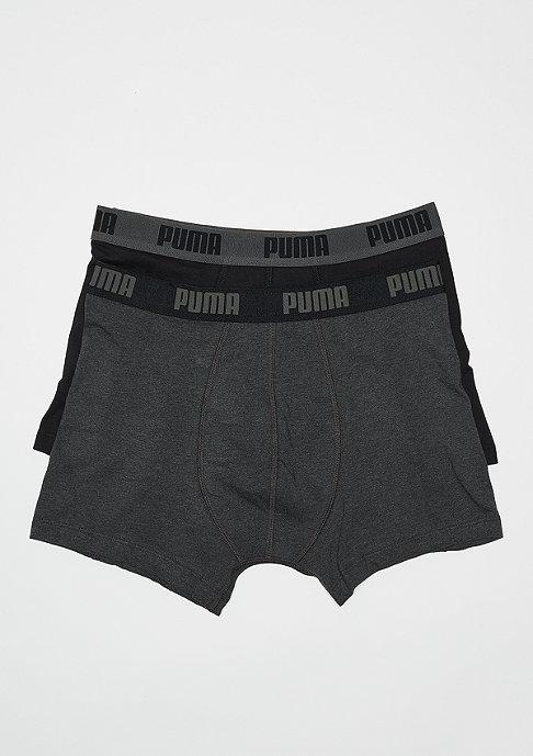 Puma Basic Boxer 2P dark grey melange/black