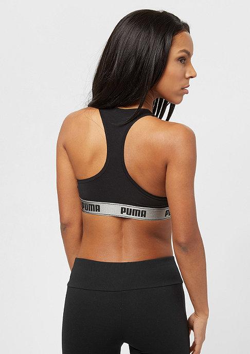 Puma Racer Back Bra With Cat Logo E-Com black