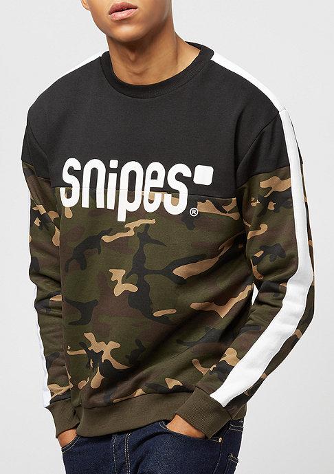 SNIPES Block Stripe Basic Logo black/camo/white