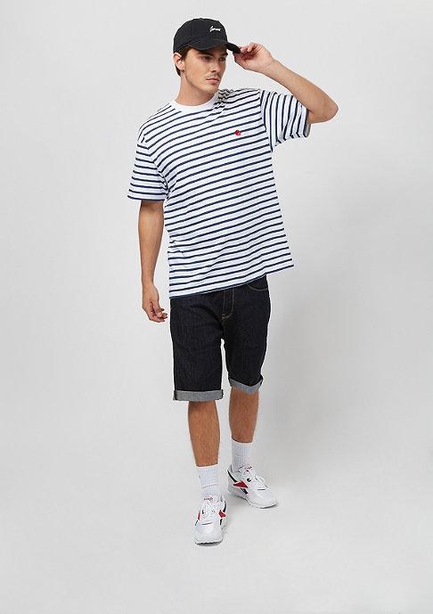 Carhartt WIP Champ stripe blue/white/goji