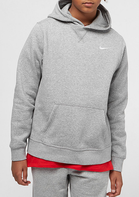 NIKE YA76 Brushed Fleece dark grey heather/white