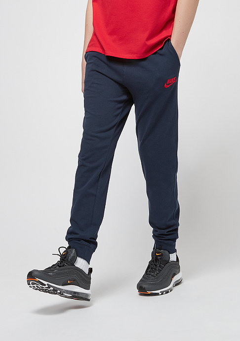 NIKE Junior NSW Jersey Jogger obsidian/university red