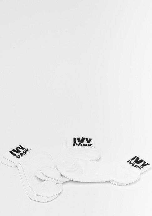 IVY PARK Logo Ankle 3P white