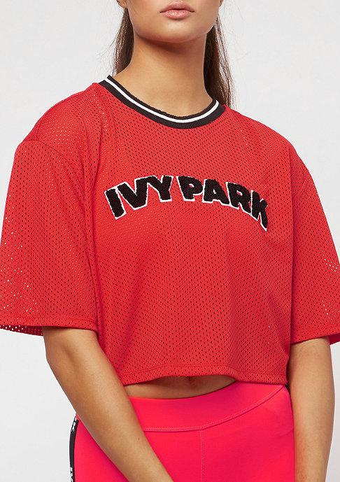 IVY PARK Airtex Crop poopy red