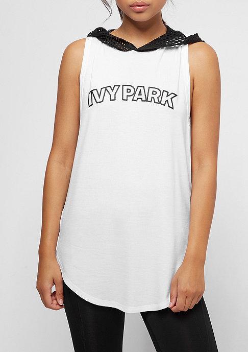 IVY PARK Collegiate Logo Hooded Tank white