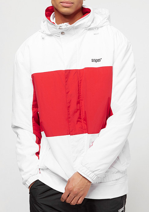SNIPES Block Windbreaker white/red