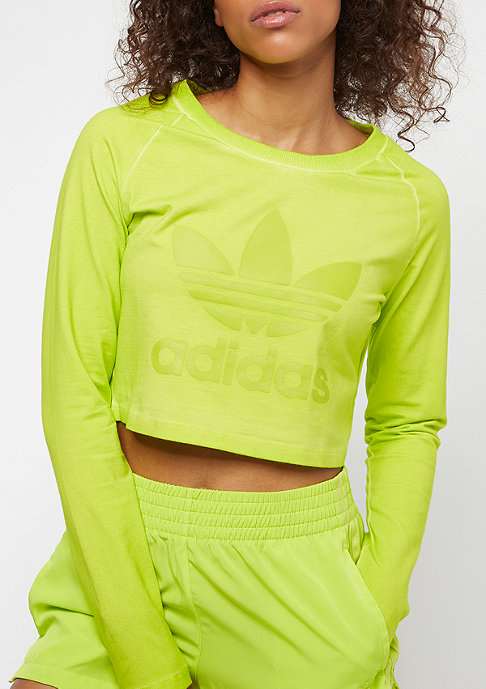 adidas The Dye Pack Crop LS crunch wash yellow