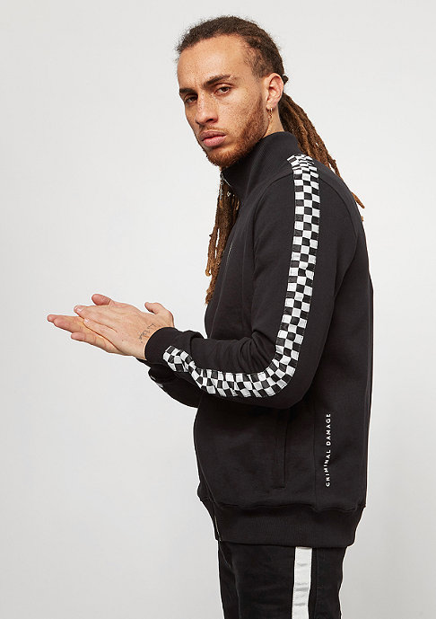Criminal Damage Track Top Chequer black/white