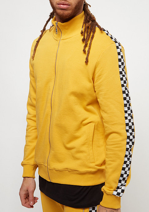 Criminal Damage Track Top Chequer yellow/white