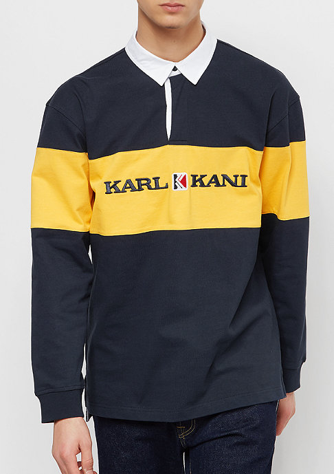Karl Kani Block Rugby Shirt blue/yellow