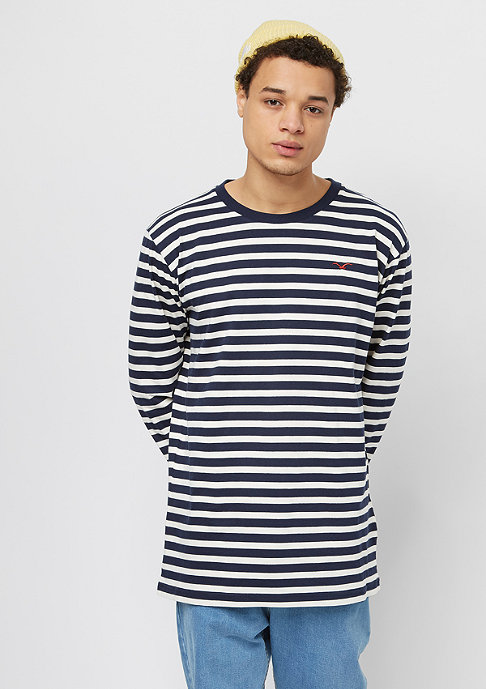 Cleptomanicx Classic Stripe 2 dark navy