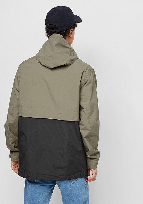 Cleptomanicx City Hooded Summer dusty olive/black