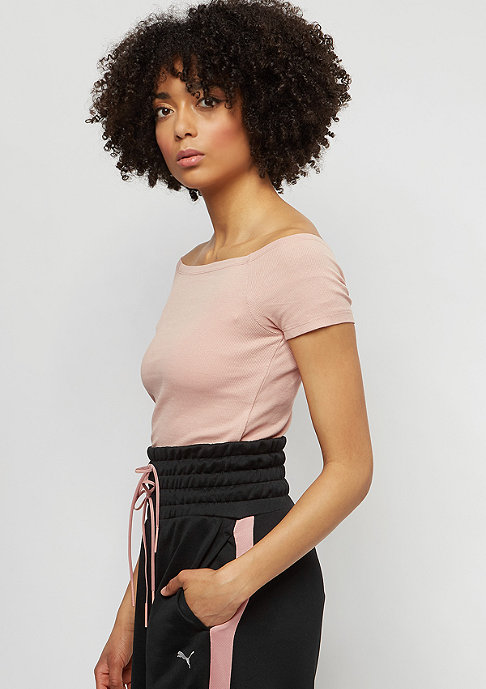 Urban Classics Off Shoulder Rib lightrose