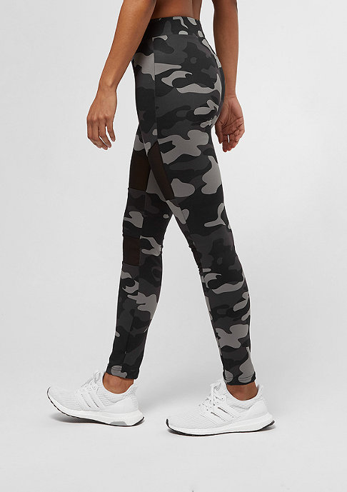 Urban Classics Camo Tech Mesh darkcamo/black