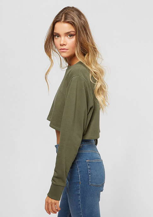 Urban Classics Terry Cropped olive