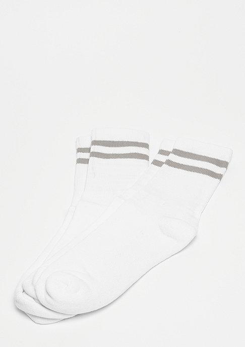 Urban Classics 2-Stripe Socks white/lightgrey
