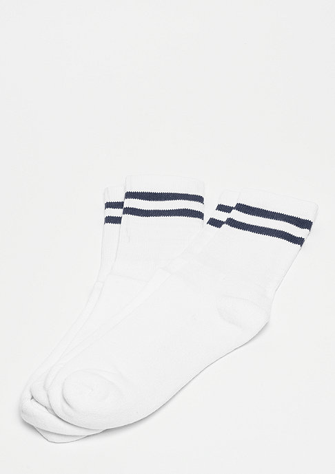 Urban Classics 2-Stripe Socks white/navy