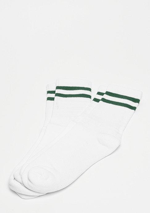 Urban Classics 2-Stripe Socks white/green