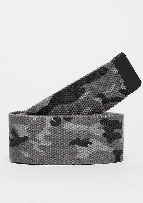 Urban Classics Woven Belt Rubbered Touch UC grey camo