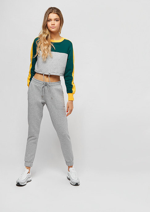 Urban Classics Cropped 3-Tone Stripe grey/jasper/chrome yellow