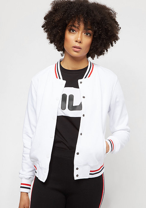 Urban Classics College Sweat white/firered/navy