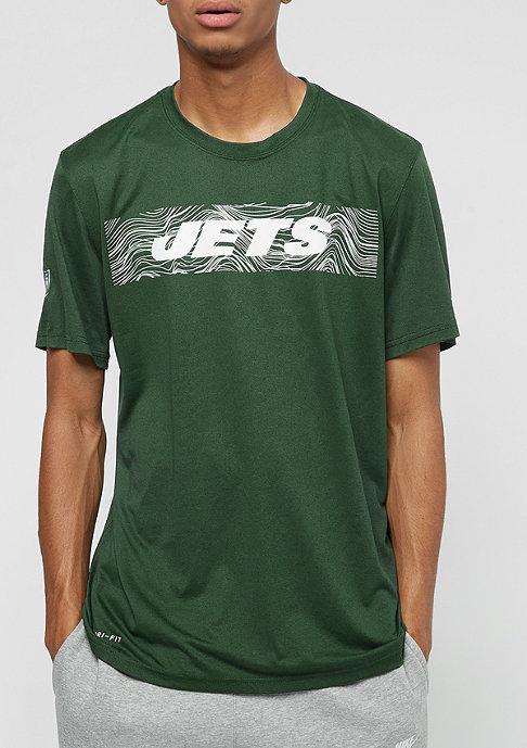 NIKE New York Jets LGD Onfield Seismic green