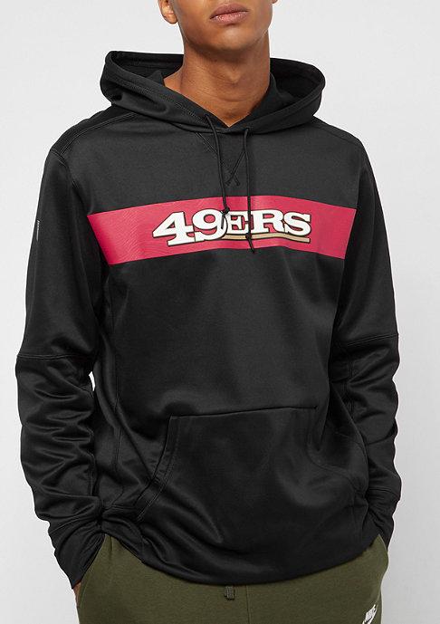 NIKE San Francisco 49ers Thrma black/black/gym red