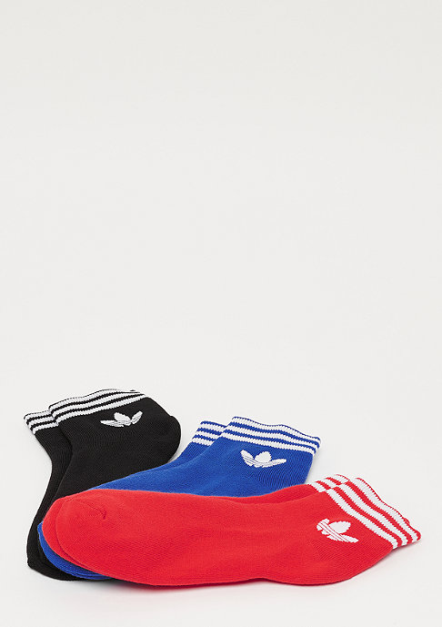 adidas Trefoil Ank Str 3P black/red/blue
