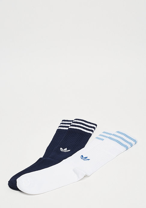adidas Solid Crew 2PP collegiate navy/white/white/clear blue