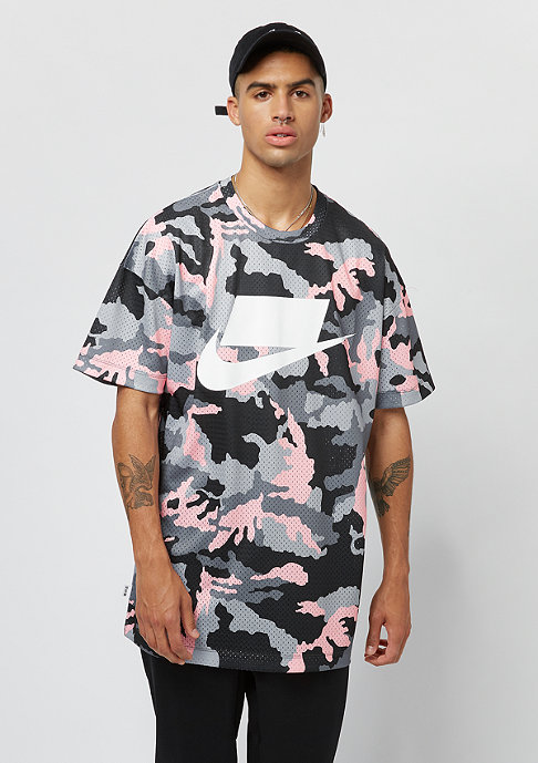 NIKE NSW Top Msh anthracite/storm pink/white
