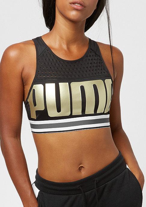 Puma Bra M puma black/metallicgoldpuma
