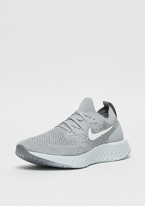 NIKE Running Epic React Flyknit (GS) wolf grey/white-cool grey-pure platinum
